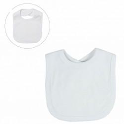 White Velcro Bib